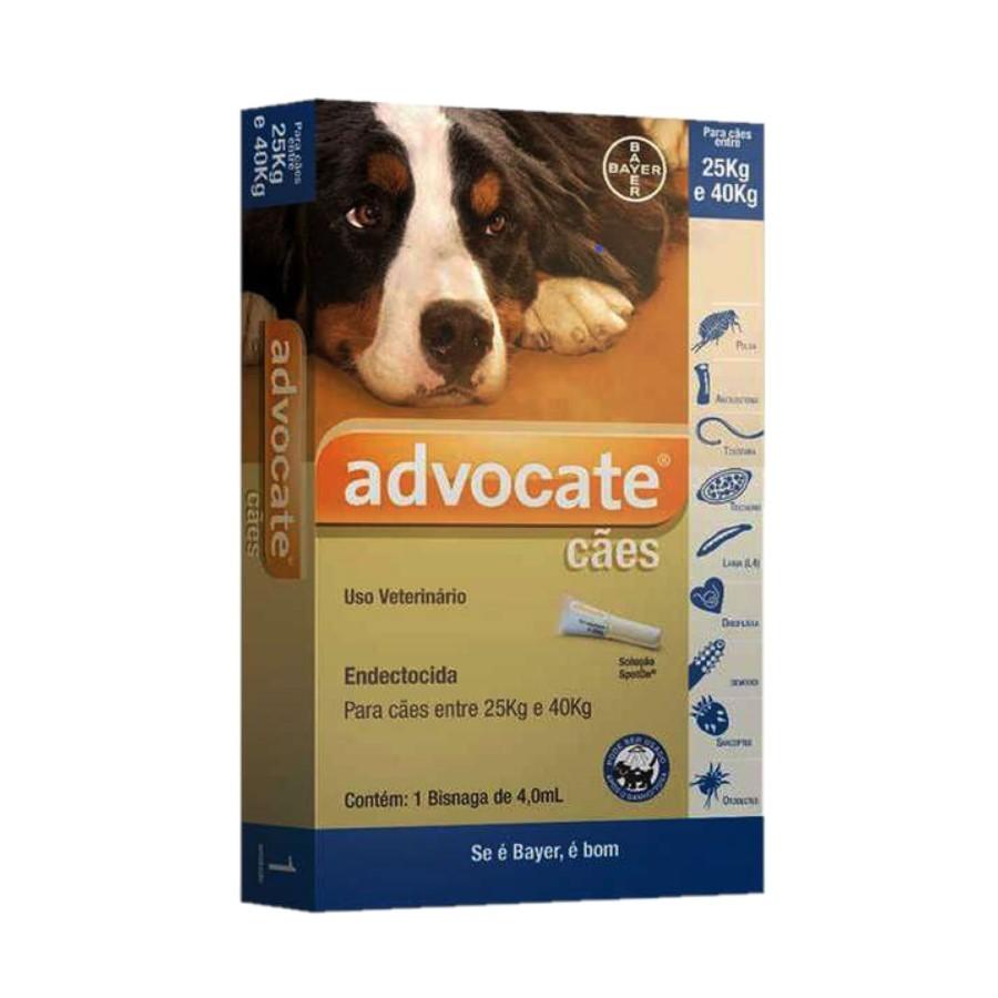 Advocate Anti Pulgas Cães De 25 A 40 Kg Bayer 1 Bisnaga