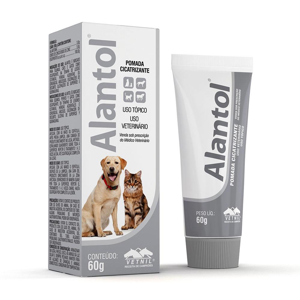 Alantol 60g Vetnil Pomada Cicatrizante Para Cães e Gatos