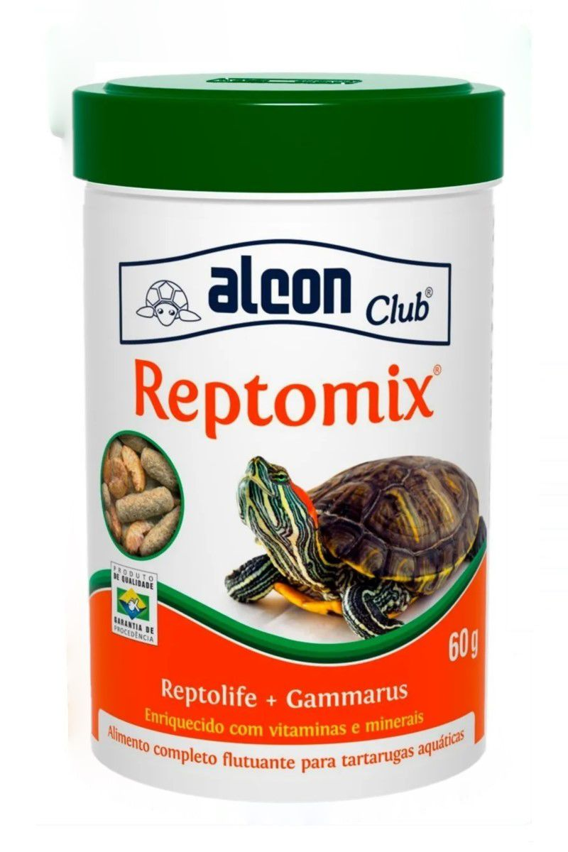 Alcon Reptomix Para Tartarugas Reptolife + Gammarus - 60g