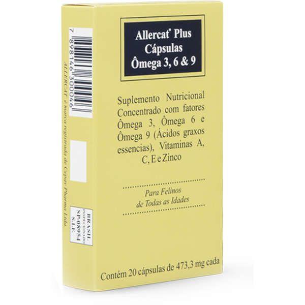 Allercat Plus 20 cápsulas Cepav Suplemento Omega Gatos