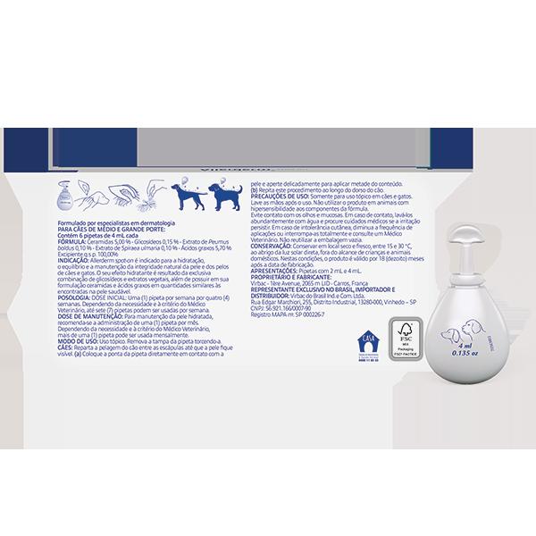 Allerderm Spot on 10kg Para Cães e Gatos Virbac 6 de 4ml