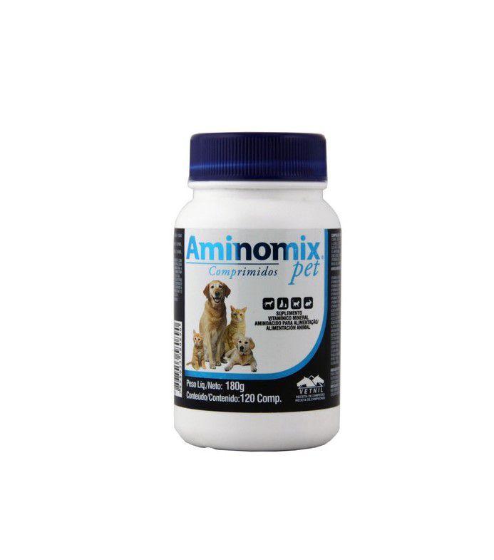 Aminomix Pet Comprimidos - 120 Capsulas Vetnil 180g