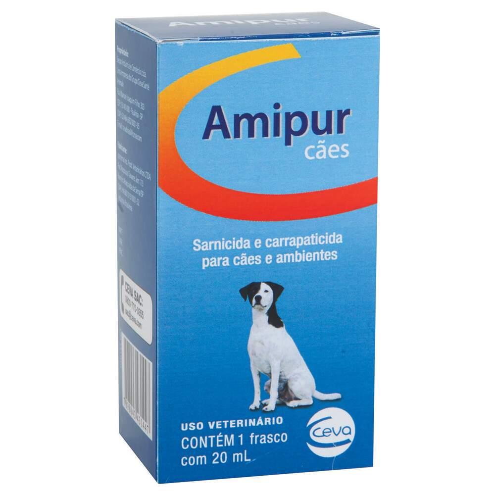 Amipur Sarnicida e Carrapaticida Para Cães 20ml