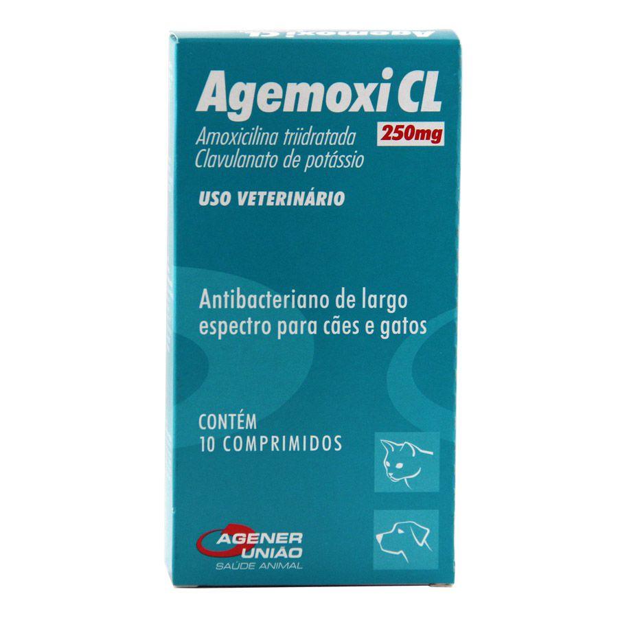 Antibiotico Agener União Agemoxi Cl Com 10 Comprimidos 250mg