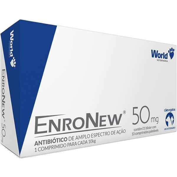 Antibiótico Enronew 50mg 10 Comprimidos