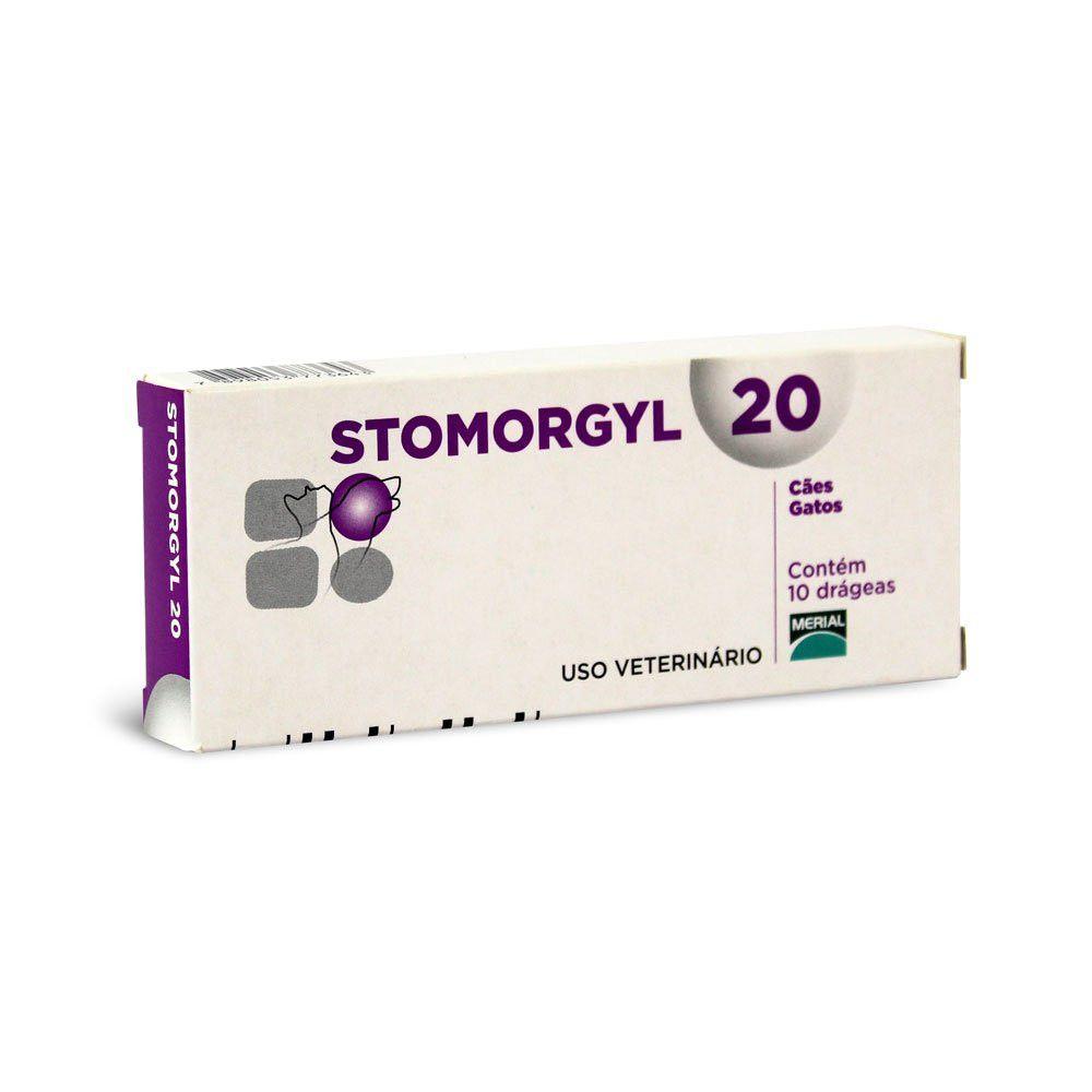 Antibiótico Stomorgyl 20 P/ Cães E Gatos - 10 Comp