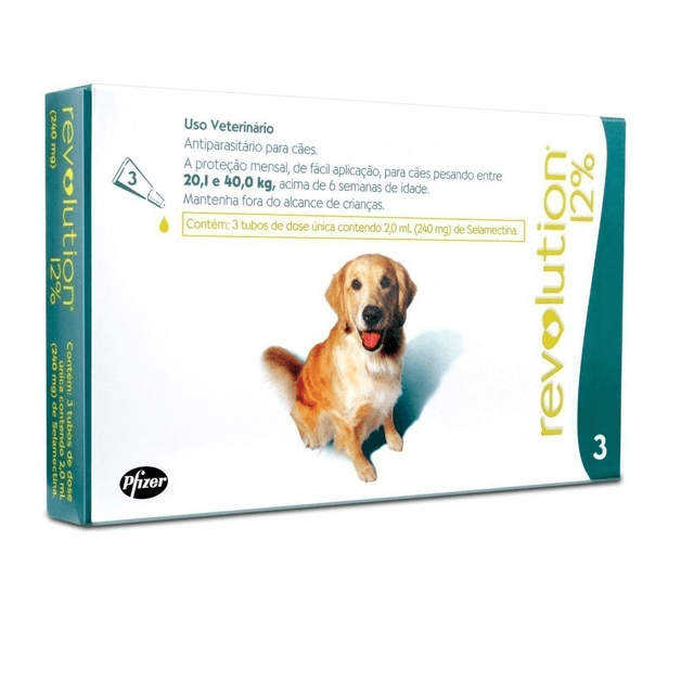 Antipulga Revolution 12% Combo Cães 20,1 - 40kg