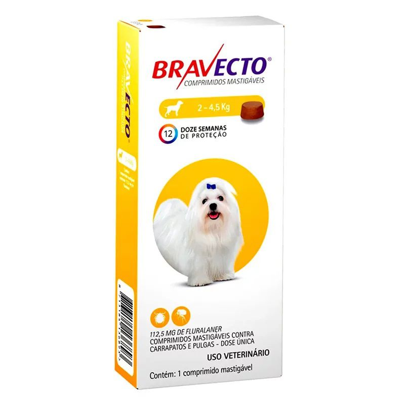 Antipulgas Bravecto De 2 - 4,5 Kg