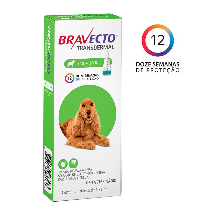 Antipulgas Bravecto Transdermal Cães 10-20kg