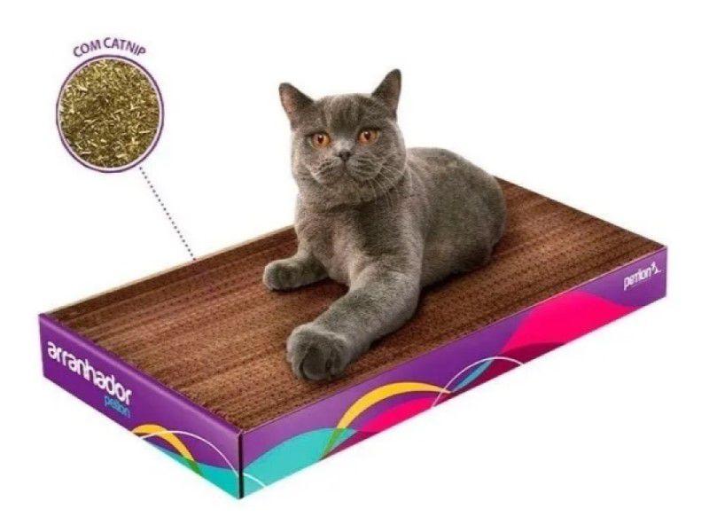 Arranhador de Papelão Com Catnip Para Gatos Petlon