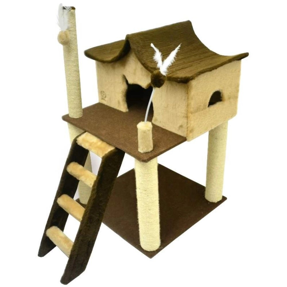 Arranhador para Gatos Castelinho Marron/Bege