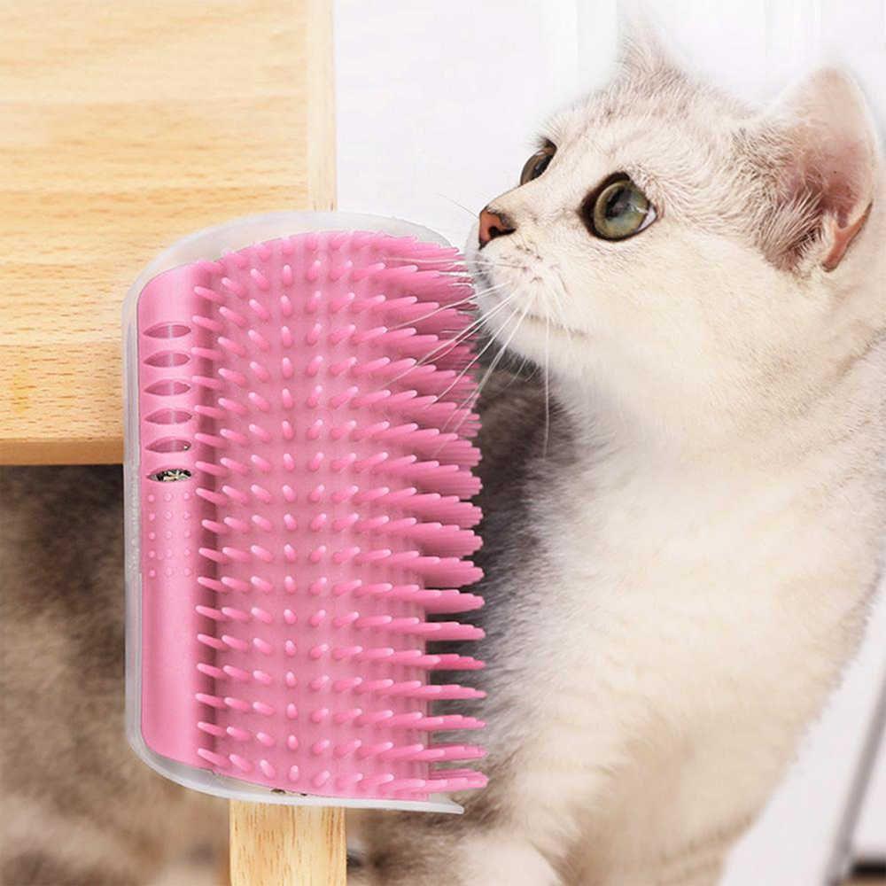 Auto Escovamento De Parede Para Gatos Catnip Cat it Rosa