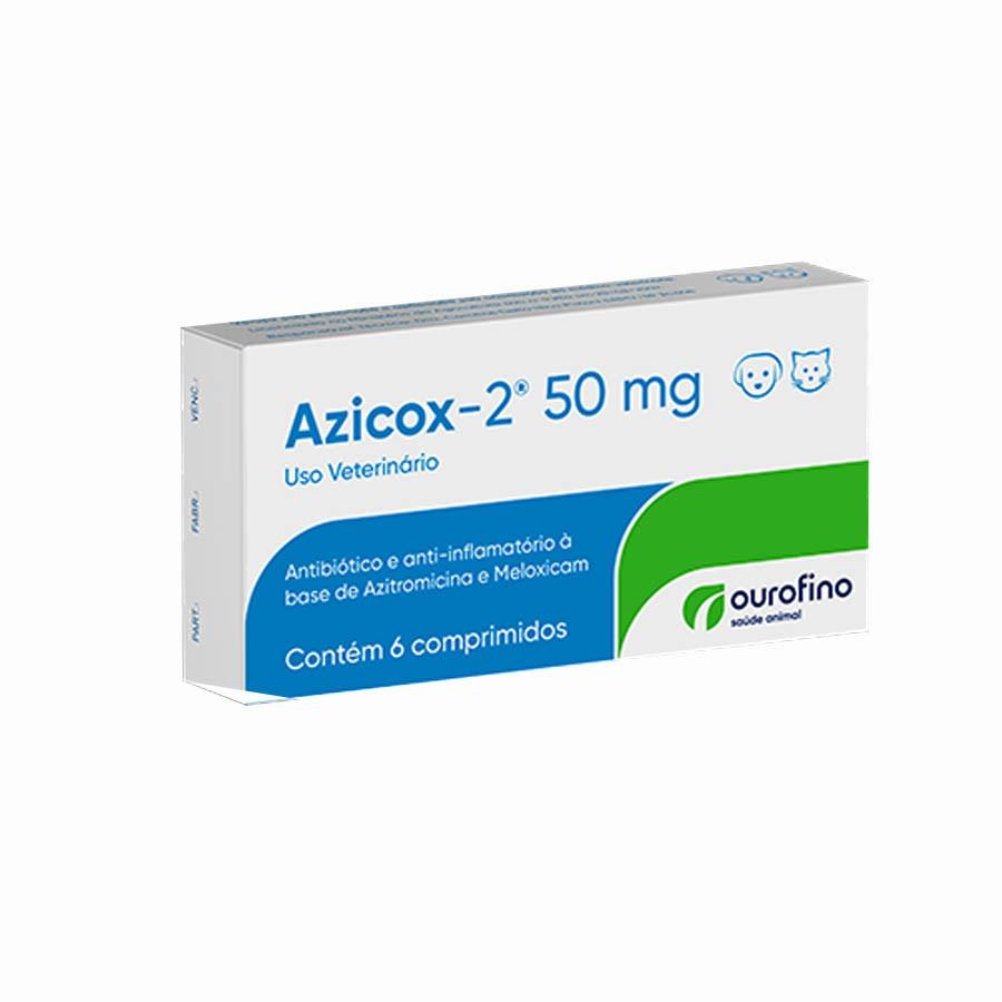 Azicox-2 50mg Ourofino Antibiotico 6 Comprimidos