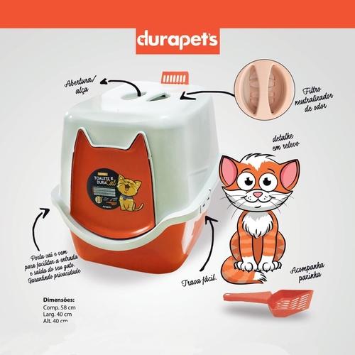 Banheiro Sanitário para Gatos Durapet Vermelho