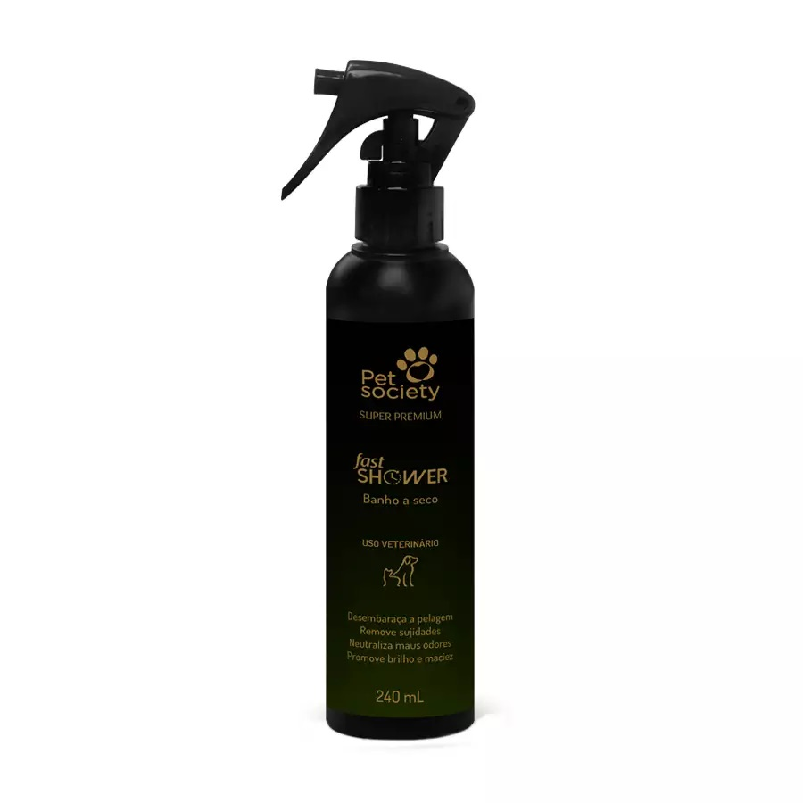 Banho a Seco Pet Society Fast Shower 240ml