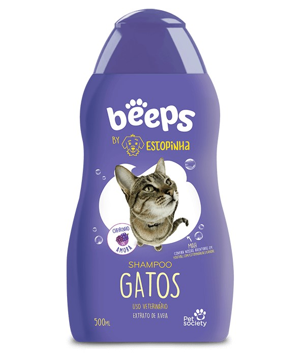 Beeps Shampoo Gatos Pet Society 500ml