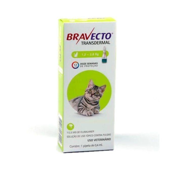 Bravecto Gatos 1,2 A 2,8 Kg Transdermal