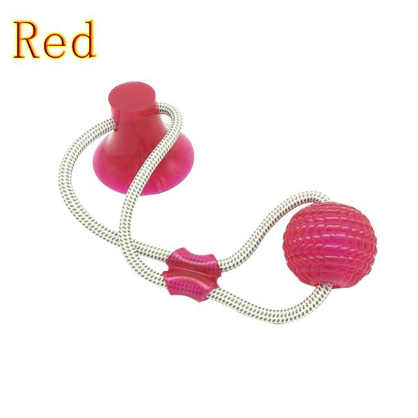 Brinquedo Corda Ventosa Morder Pet Vermelha