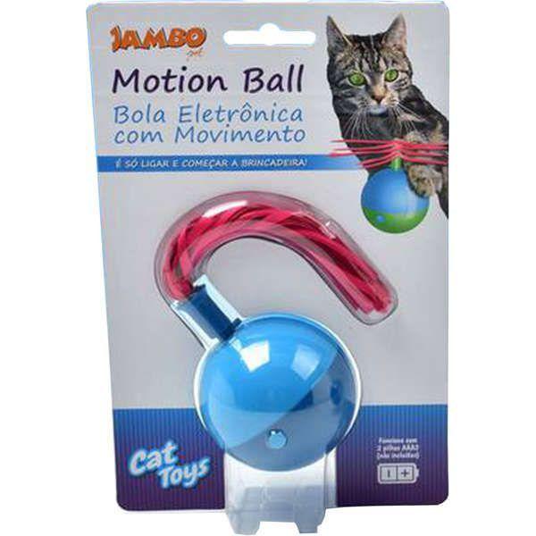 Brinquedo Para Gato Bola Motion Ball Azul Jambo