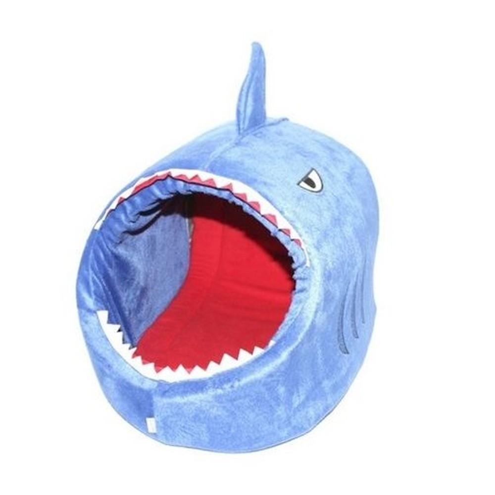 Cama Toca Tubarão Pet Azul Marinho