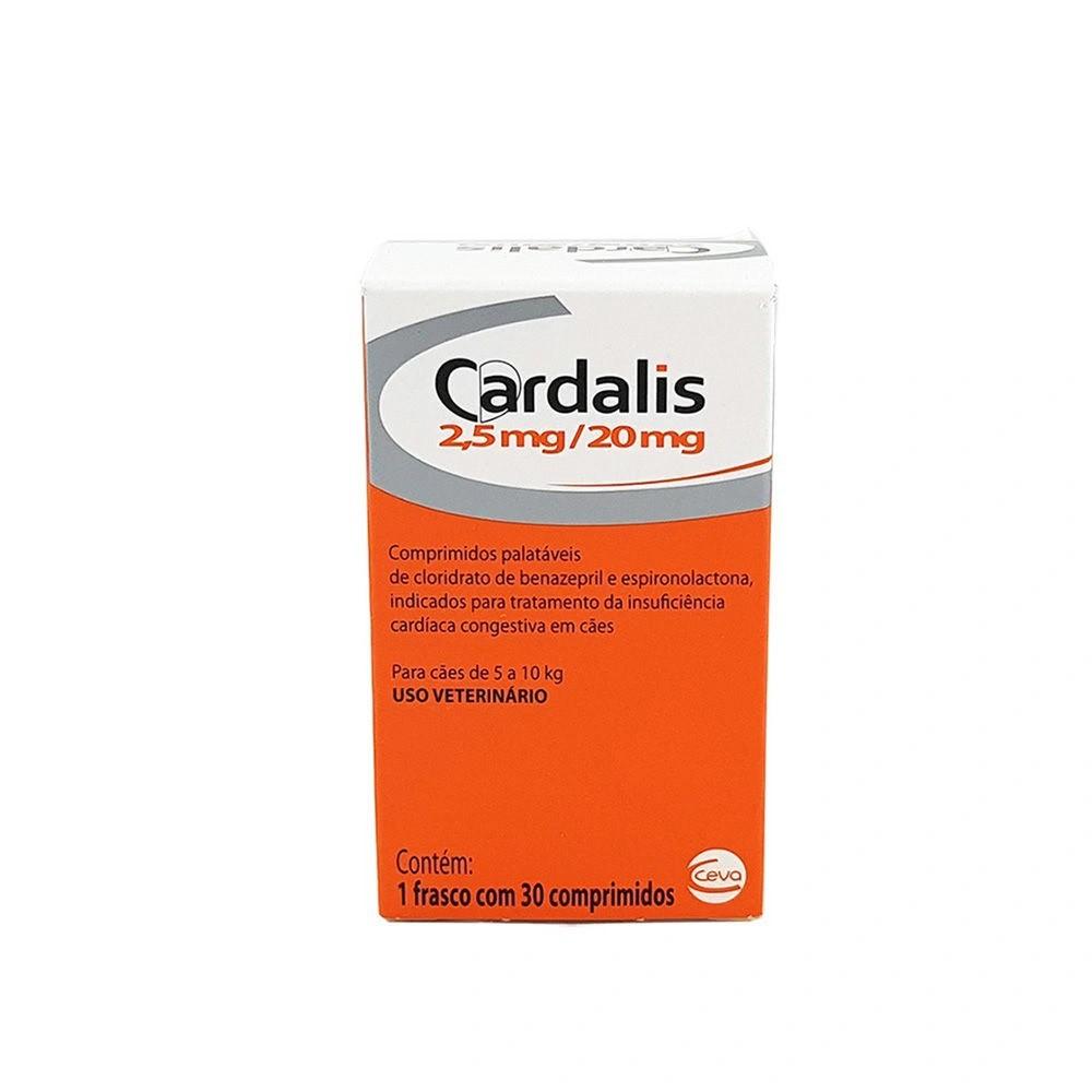 Cardalis 2,5mg/20mg Ceva 30comp Para Cães de 5 a 10kg