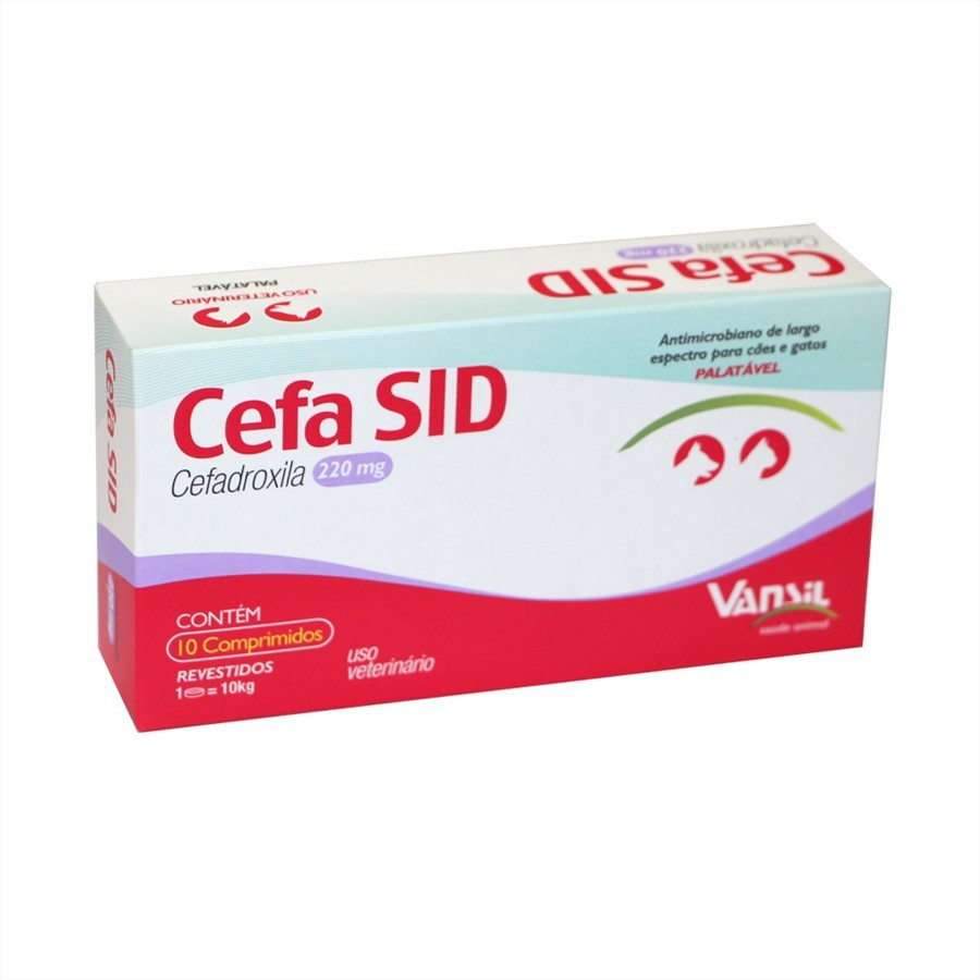 Cefa Sid 220mg Antimicrobiano Vansil 10 Comprimidos