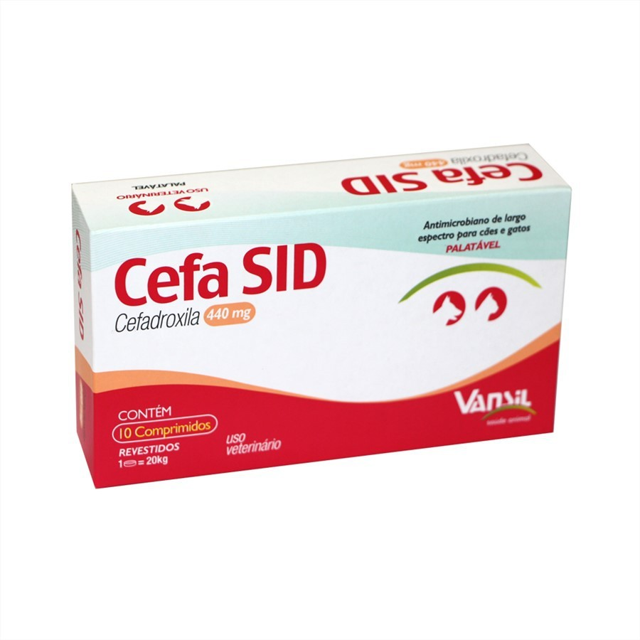 Cefa Sid 440mg Antimicrobiano Vansil 10 Comprimidos