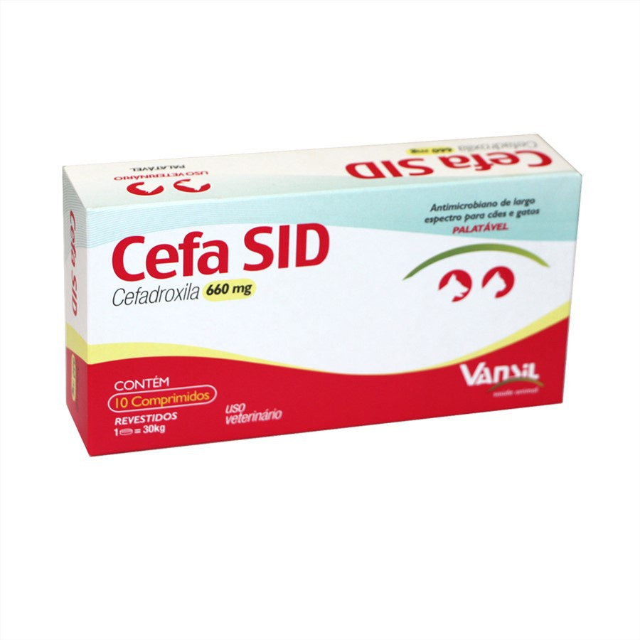 Cefa Sid 660mg Antimicrobiano Vansil 10 Comprimidos