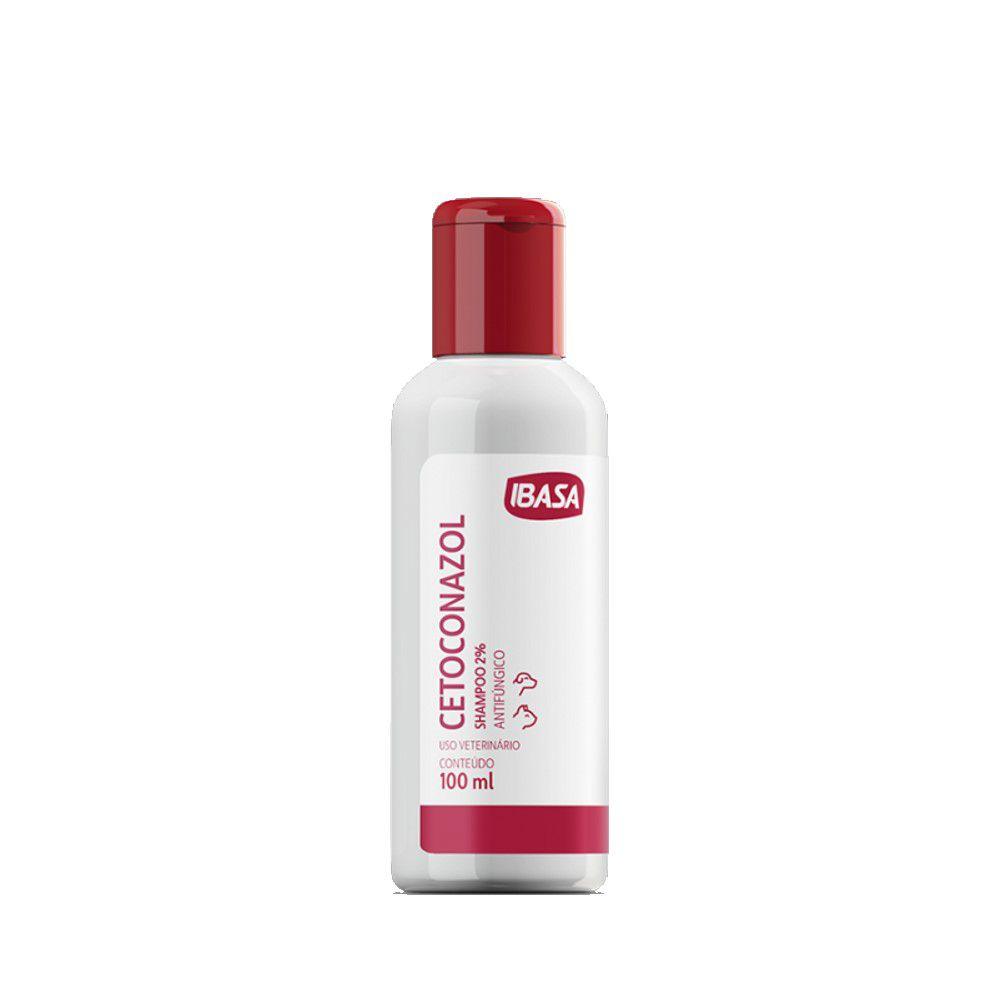 Cetoconazol Shampoo 2% 100 ml Ibasa Para Cães e Gatos