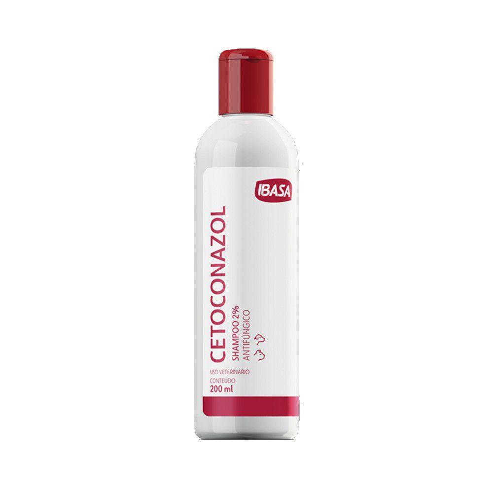 Cetoconazol Shampoo 2% 200 ml Ibasa Para Cães e Gatos