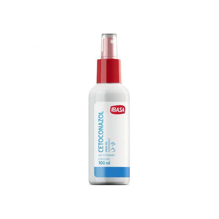 Cetoconazol Spray Ibasa 2% Para Cães - 100ml