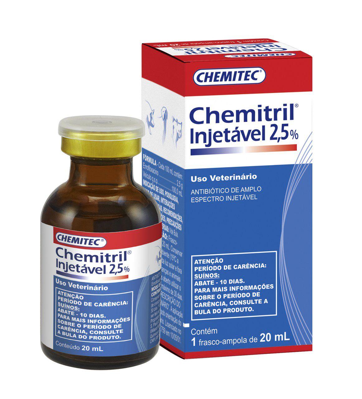 Chemitril Injetável 2,5% Chemitec 20ml