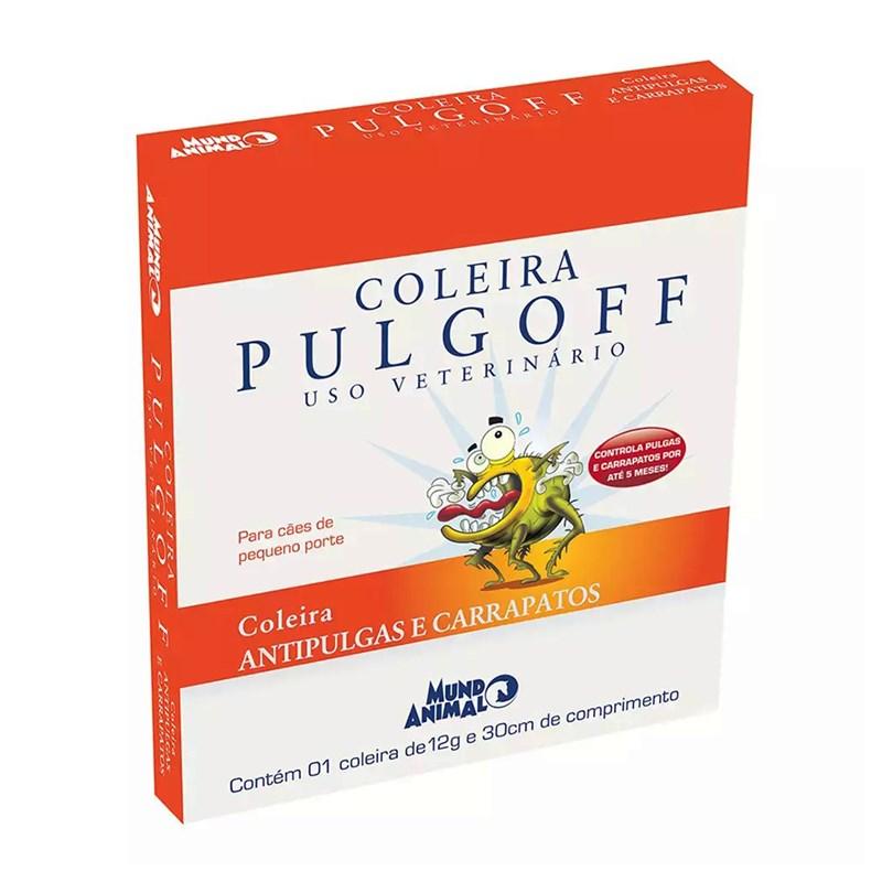 Coleira Antipulgas Pulgoff Cães Porte Pequeno 30cm