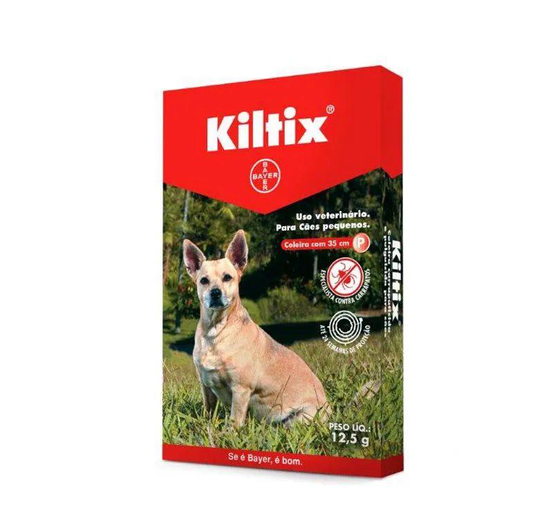 Coleira Bayer Carrapaticida Para Cães Pequenos 35cm Kiltix