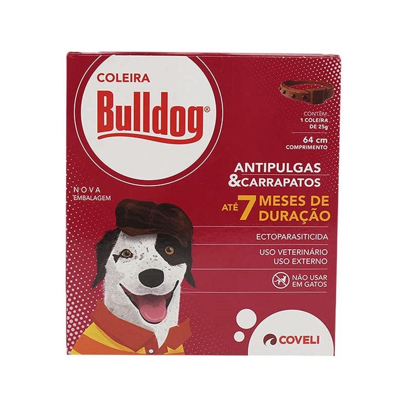 Coleira Bulldog Antipulgas e Carrapatos Coveli