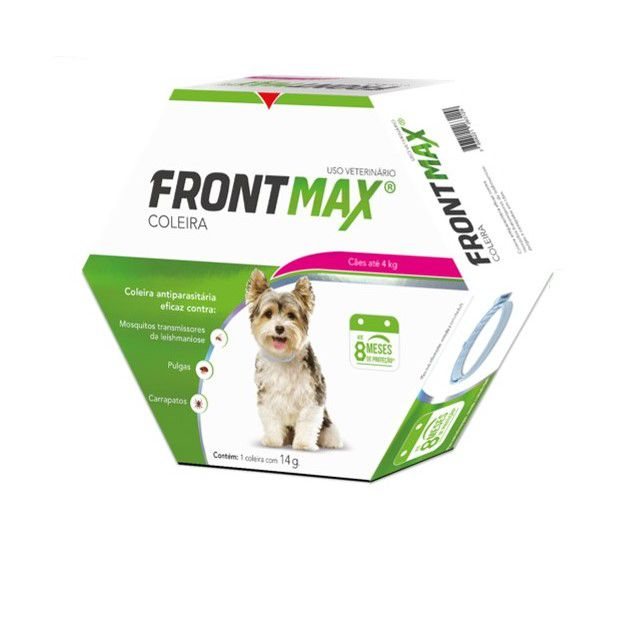 Coleira Frontmax 14g Caes Ate 4kg