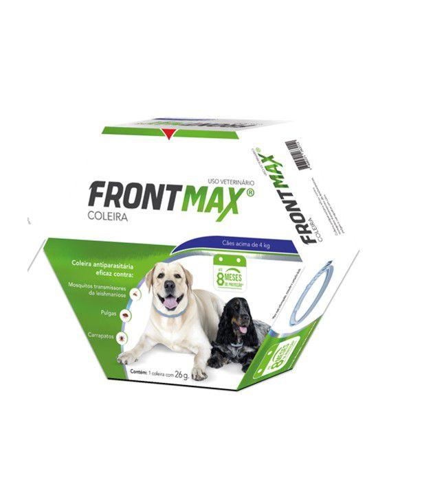 Coleira Frontmax Cães Acima 4kg Carrapato Pulga Leishmaniose
