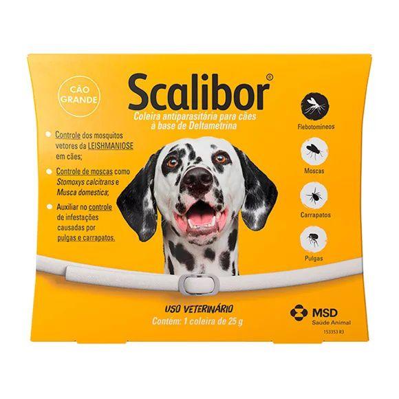 Coleira Scalibor Antiparasitas Para Cães Grande