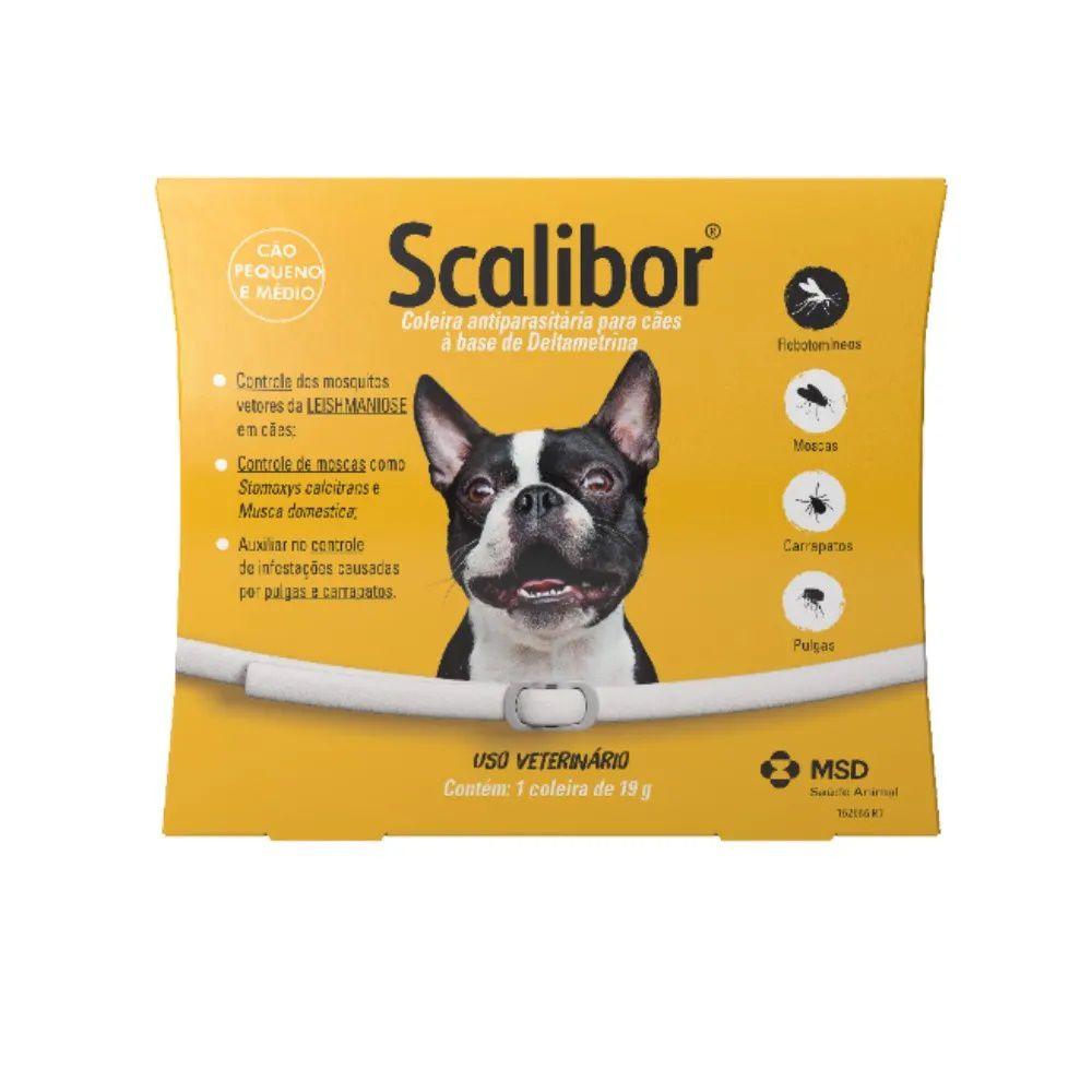 Coleira Scalibor Antiparasitas Para Cães Pequeno e Médio