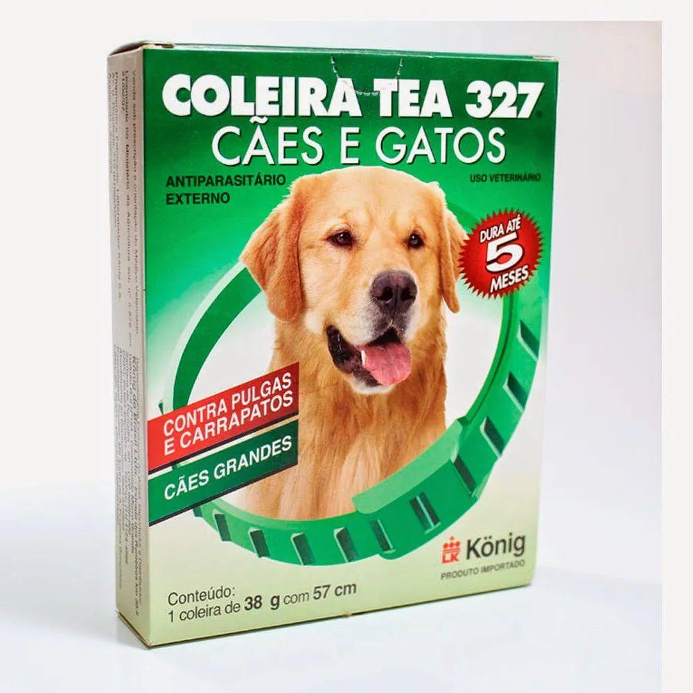 Coleira Tea 327 Cães e Gatos Grande 38g