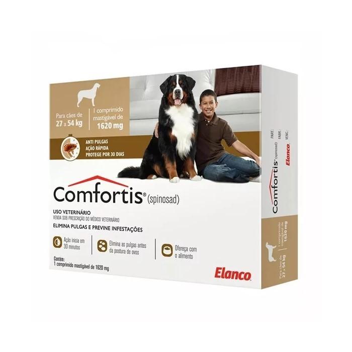 Comfortis Antipulgas Cães 27 a 54kg 1620mg 1Comp Elanco