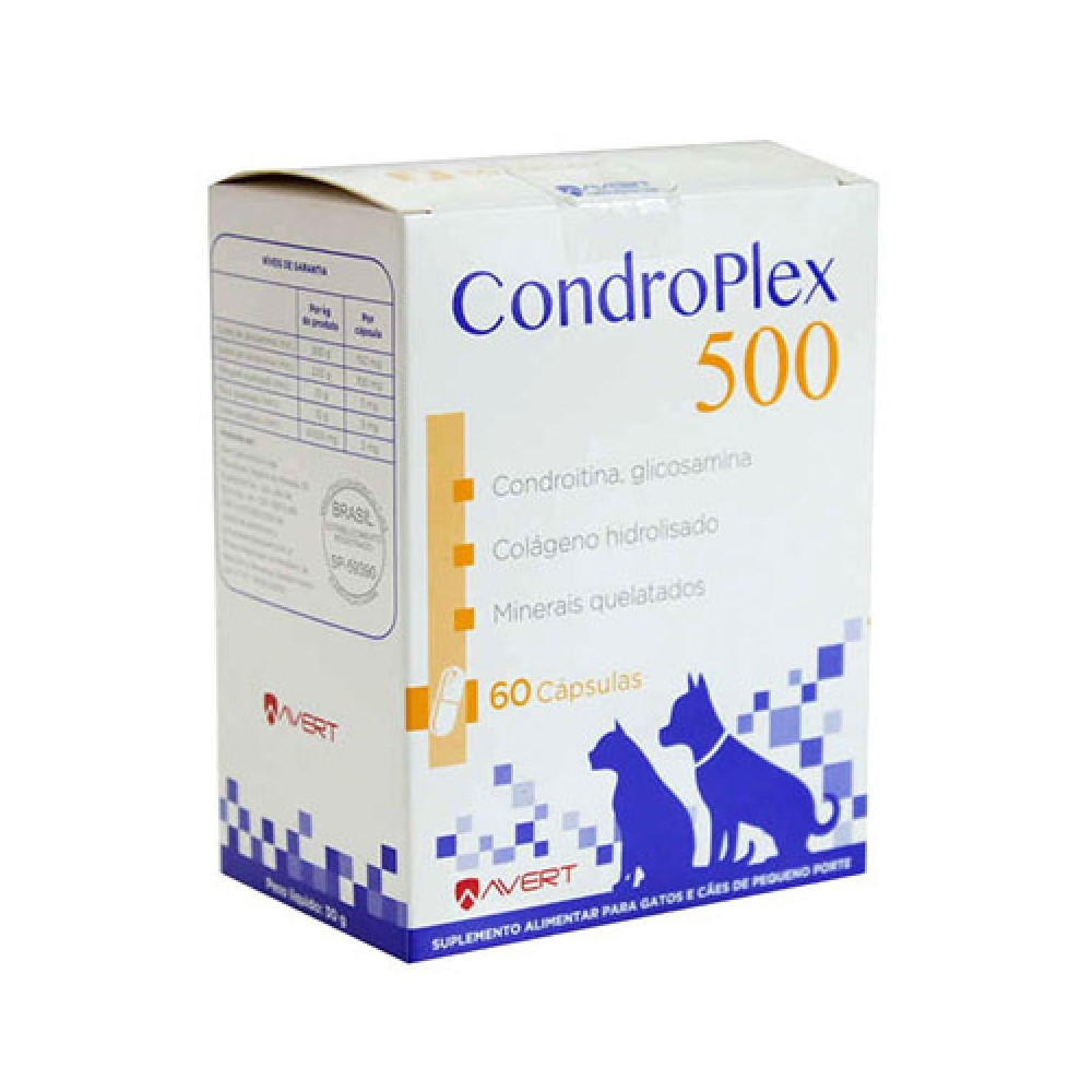 Condroplex 500 Suplemento Alimentar Avert 60Cápsulas