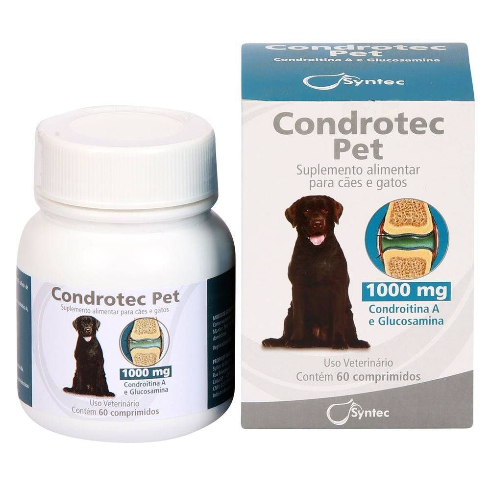 Condrotec Pet 1000mg Suplemento Colágeno Cartilagem