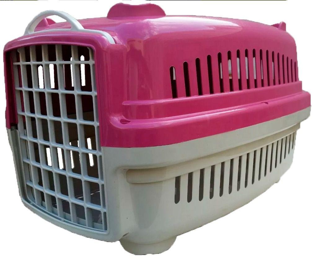 Caixa De Transporte Caes Ou Gatos N. 1- Rosa