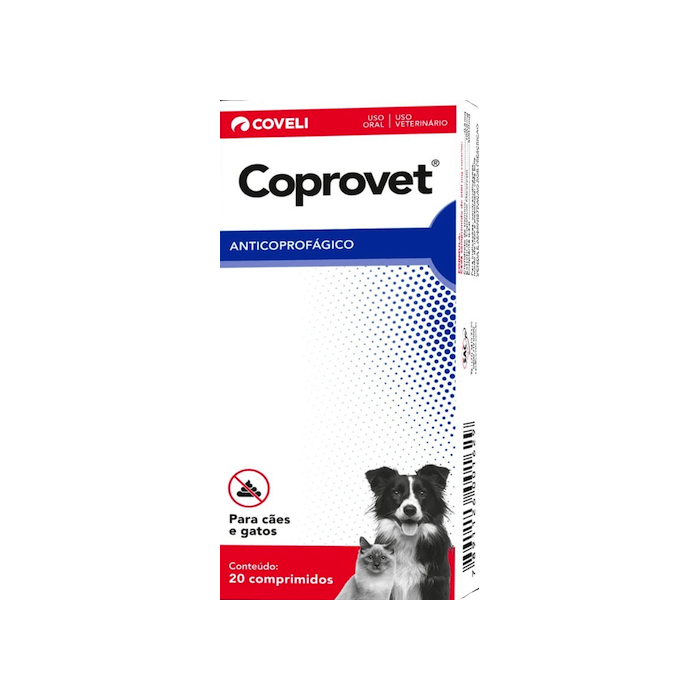 Coprovet Anticoprofágico Para Cães e Gatos Coveli 20Comp.