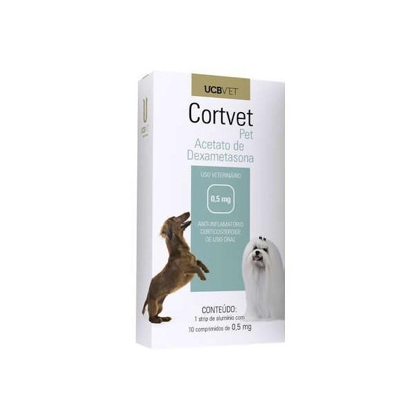 Cortvet Anti-inflamatório 0,5mg Para Cães 10 Comprimidos