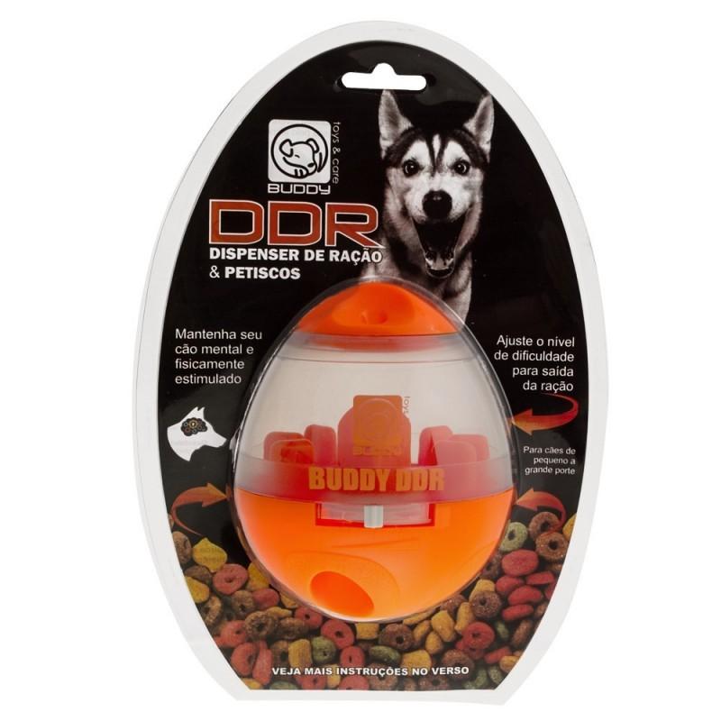 DDR Dispenser de Ração e Petiscos Buddy Brinquedo Para Cães