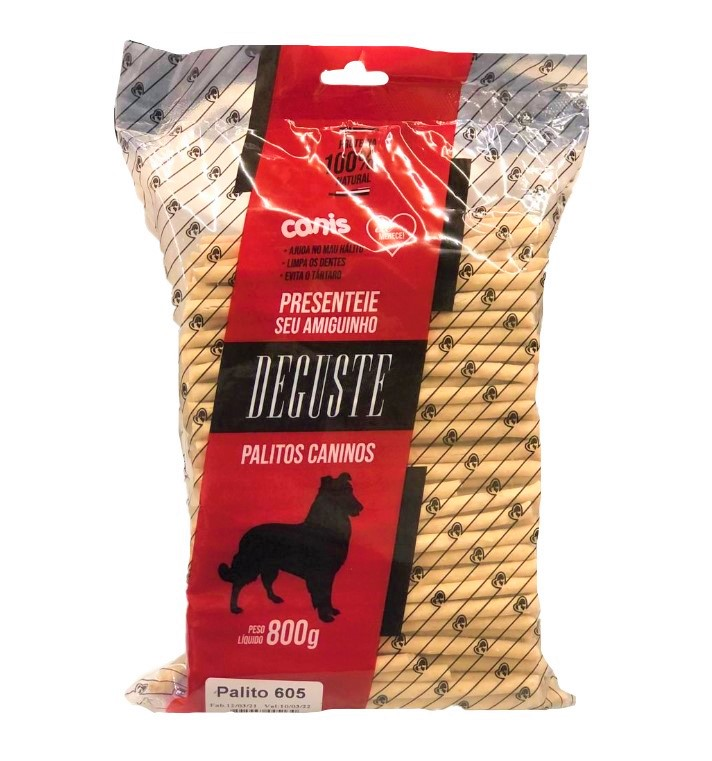 Deguste Osso Palito Natural 6mm 800g Canis