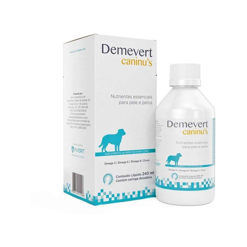 Demevert Caninus Suplemento Alimentar Avert 240ml
