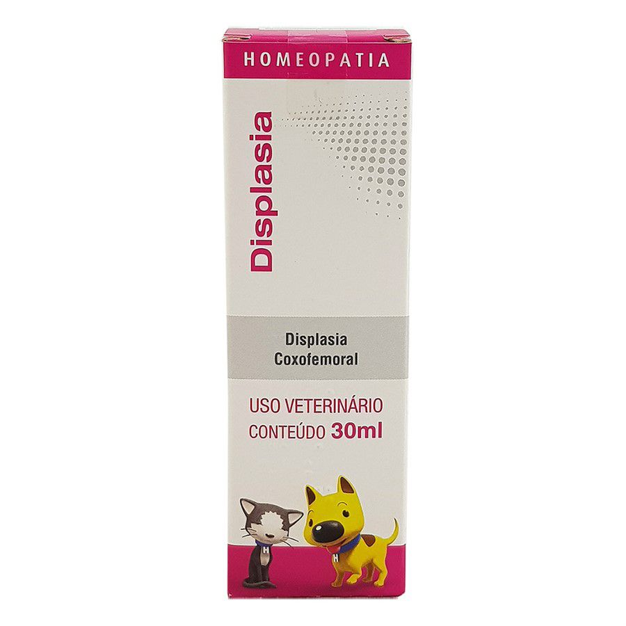 Displasia Homeopatia Real H Para Cães e Gatos 30ml
